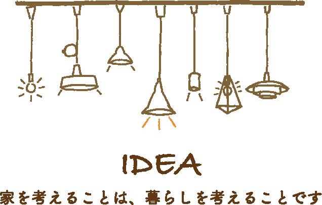 IDEA 家を考えることは、暮らしを考えることです。